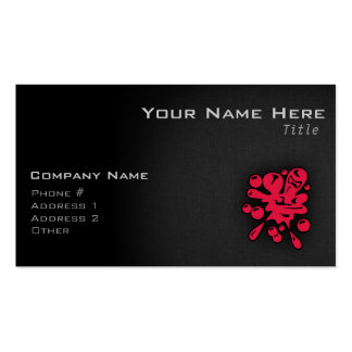 Crimson Red Paintball Business Card Templates