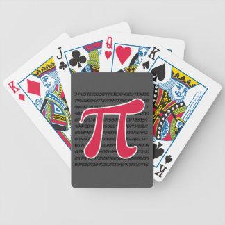 Crimson Red Pi Symbol Bicycle Playing Cards