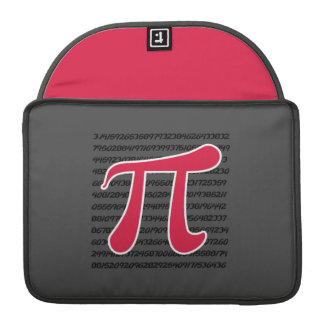 Crimson Red Pi Symbol MacBook Pro Sleeves