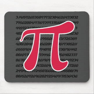 Crimson Red Pi Symbol Mouse Pad