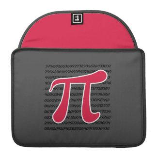 Crimson Red Pi Symbol Sleeve For MacBook Pro