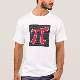 Crimson Red Pi Symbol T-Shirt