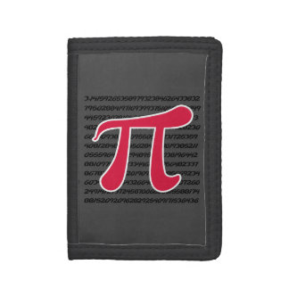 Crimson Red Pi Symbol Tri-fold Wallet
