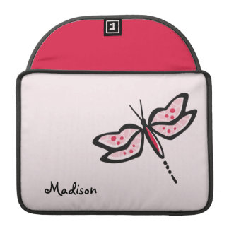 Crimson Red & Pink Dragonfly MacBook Pro Sleeve
