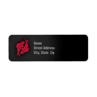 Crimson Red Pisces Label