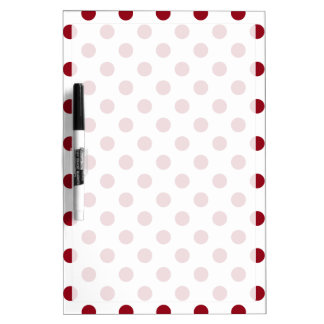 Crimson Red Polka Dots Circles Dry-Erase Board
