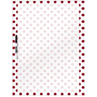 Crimson Red Polka Dots Circles Dry-Erase Board