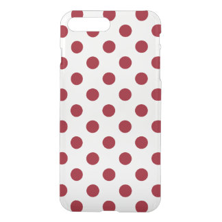 Crimson Red Polka Dots Circles iPhone 7 Plus Case