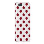 Crimson Red Polka Dots Circles iPhone SE/5/5s Case