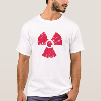 Crimson Red Radioactive Symbol T-Shirt
