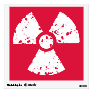 Crimson Red Radioactive Symbol Wall Sticker