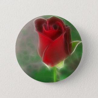 Crimson Red Rose Angelic Button