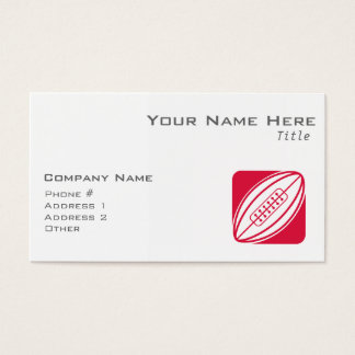 Crimson Red Rugby Business Card