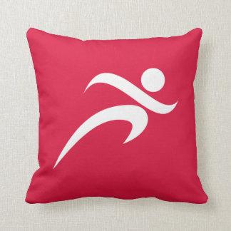 Crimson Red Running Pillow