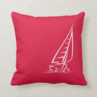 Crimson Red Sailing Pillow