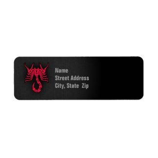 Crimson Red Scorpio Label