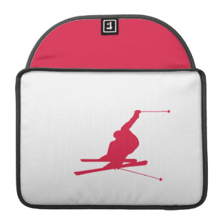 Crimson Red Snow Ski Sleeve For MacBook Pro