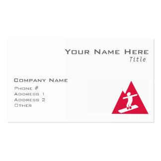 Crimson Red Snowboarding Business Card
