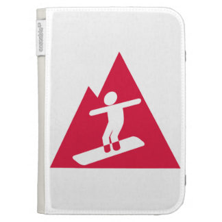 Crimson Red Snowboarding Kindle Cover