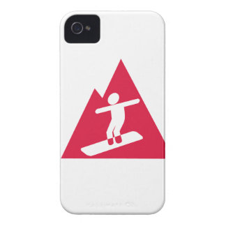 Crimson Red Snowboarding iPhone 4 Case-Mate Cases