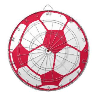 Crimson Red Soccer Ball Dart Boards