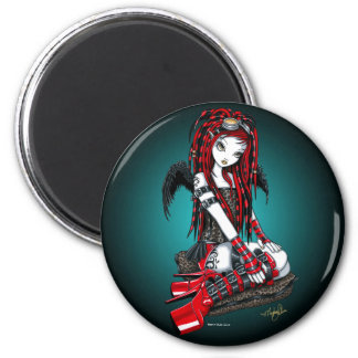 """Crimson"" Red Tattoo Cyber Goth Angel Magnet"