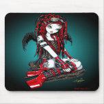 """Crimson"" Red Tattoo Cyber Goth Angel Mousepad"