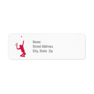 Crimson Red Tennis Label
