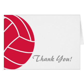 Crimson Red Volleyball Card