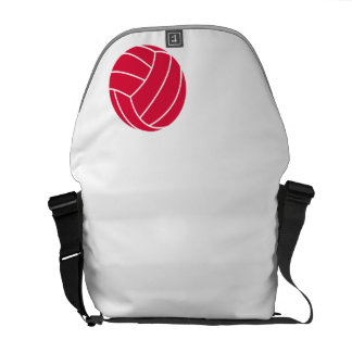Crimson Red Volleyball Courier Bag