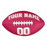 CRIMSON RED WHITE AND OLD GOLD Custom Football