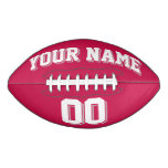 CRIMSON RED WHITE AND SILVER GRAY Custom Football
