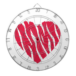 Crimson Red Wild Heart Dart Boards