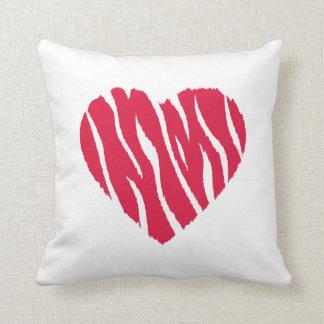 Crimson Red Wild Heart Throw Pillow