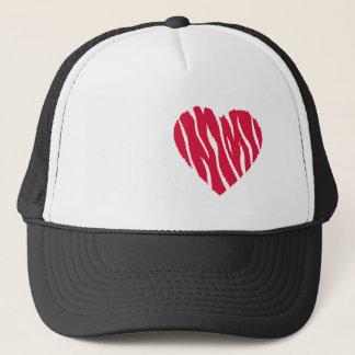 Crimson Red Wild Heart Trucker Hat