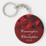 """Crimson Rose Bouquet"" - Personalized [a] Keychain"