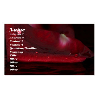 Crimson Rose Double-Sided Standard Business Cards (Pack Of 100)
