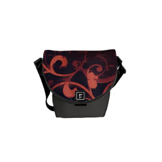 Crimson Scroll Fleur Bag Courier Bag