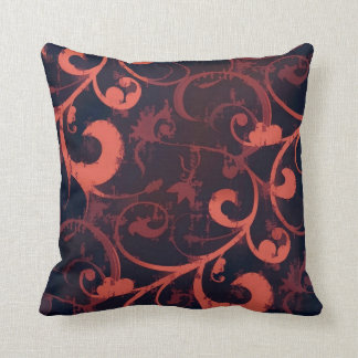 Crimson Scroll Fleur Pillow