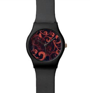 Crimson Scroll Fleur Watch