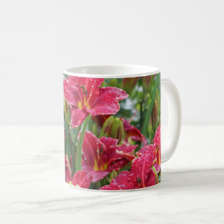 Crimson Shadows Red Daylilies 2 Coffee Mug