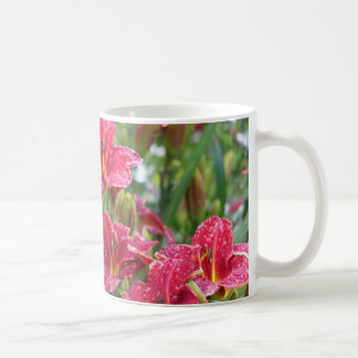 Crimson Shadows Red Daylilies 3 Coffee Mug