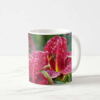 Crimson Shadows Red Daylilies Coffee Mug