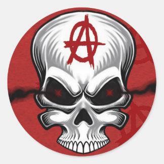 Crimson Skull Anarchy Stickers