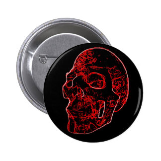 Crimson Skull Button