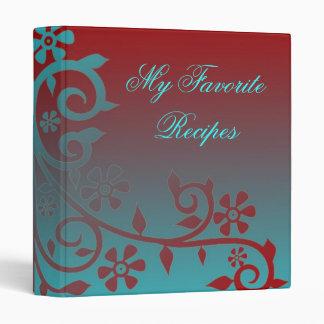 Crimson Sky Daisy Vine Recipe Book Binder