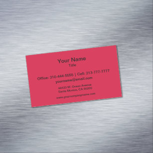 Crimson solid color business cards templates zazzle crimson solid color business card magnet reheart Image collections