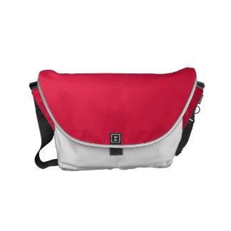 Crimson Solid Color Small Messenger Bag
