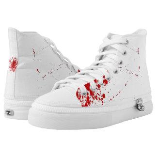 Crimson Spatter High-Top Sneakers