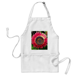 Crimson Sunflower Adult Apron